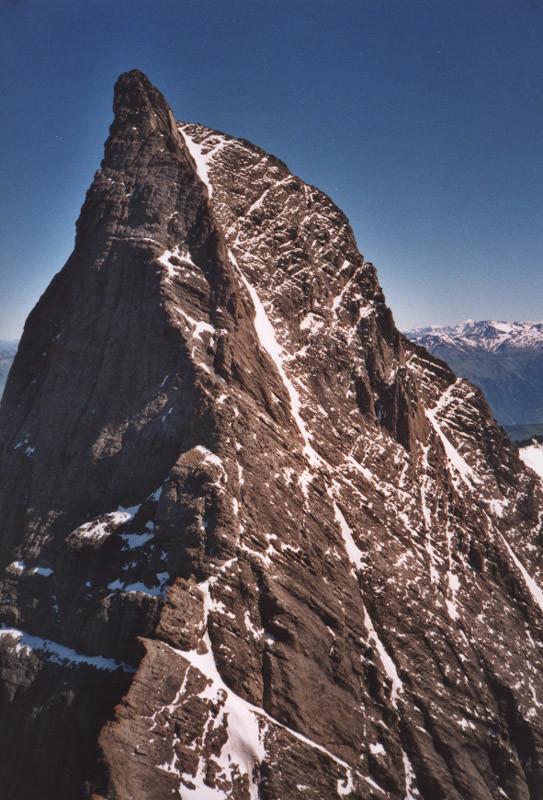 Aiguille Centrale d'Arves - face Sud-Est