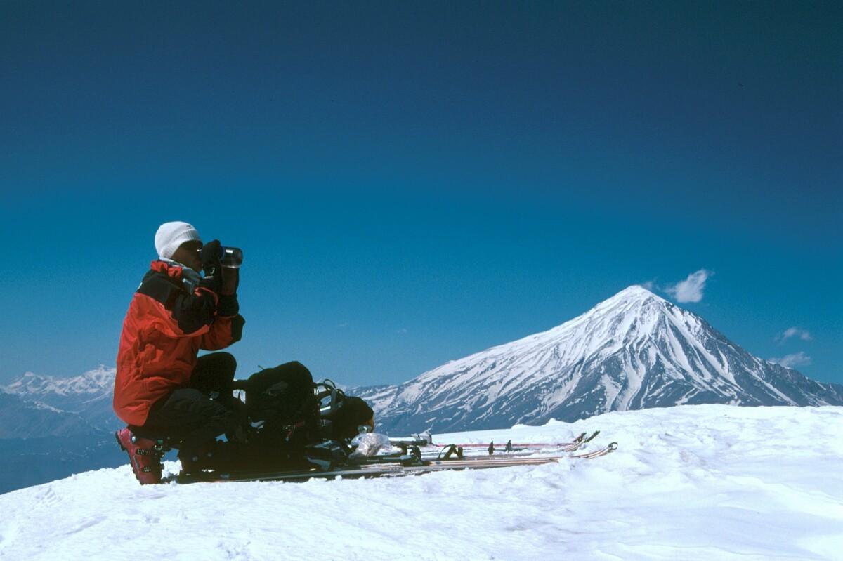 Yves, au sommet du Dovarar
