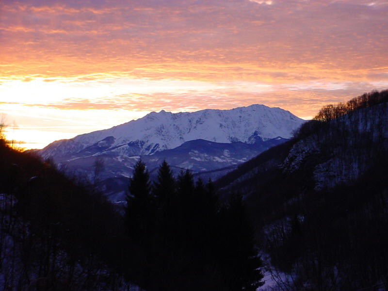 Monte Besimauda all'alba