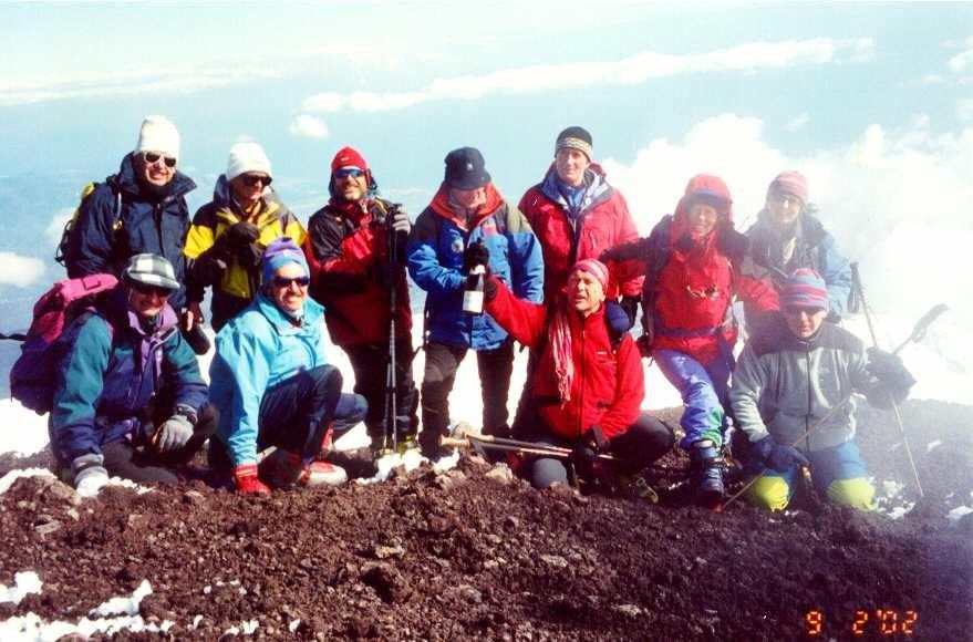 Sulla cima dell'Etna