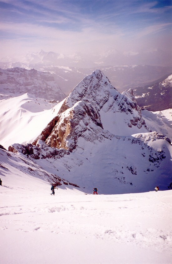 couloir sommital W des Dents Blanches occidentales