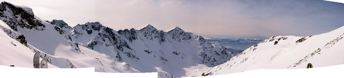 Vue panoramique prise du Col de Roche Noire