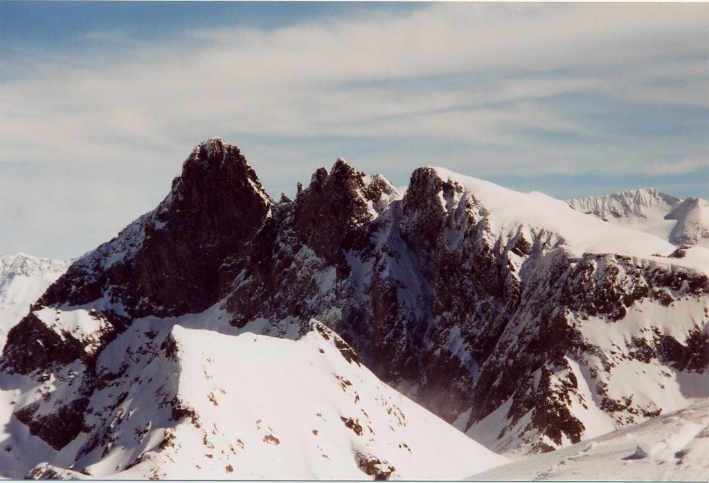 Grand Pic, Pic central et Croix depuis le sommet de la grande Lance de Domène