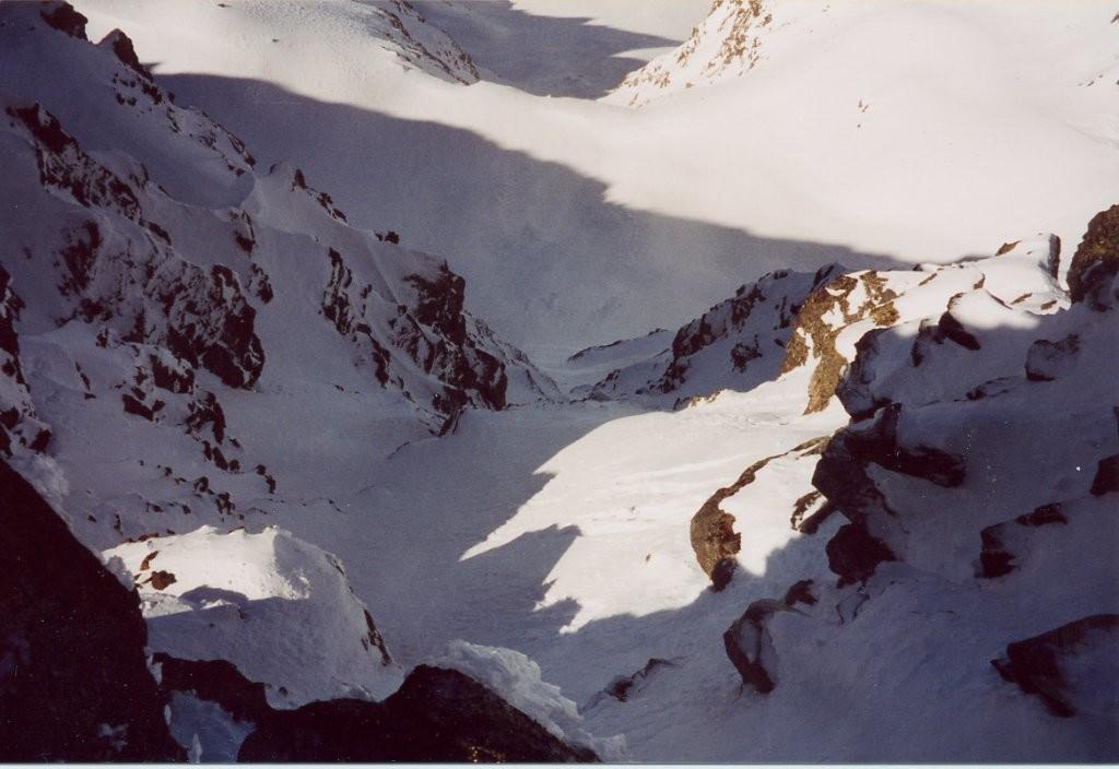 face N de la grande Lance de Domène prise sous le sommet