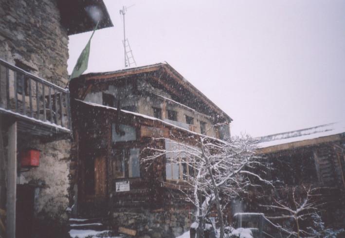 Le refuge Sabarnui, à San Bernolfo, Italie