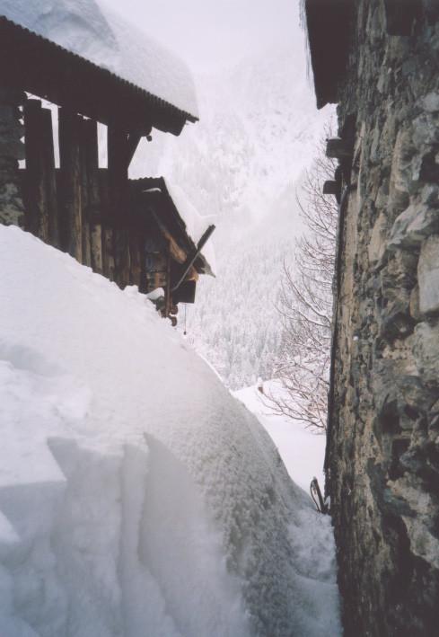 Quantité de neige a San Bernolfo, 1700m