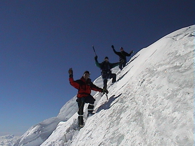 Mönch (4107m), peu avant le sommet