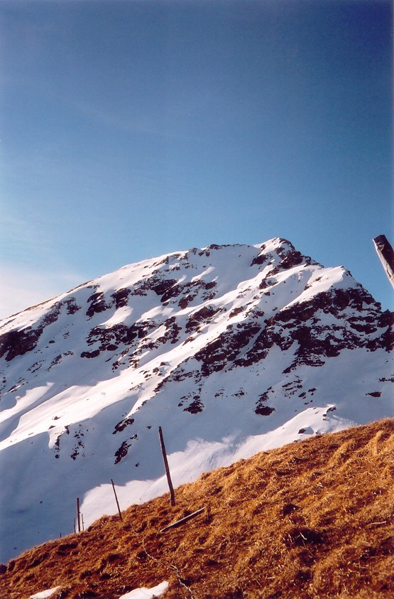 Face E du Mont de Grange vue depuis la pointe des Mattes
