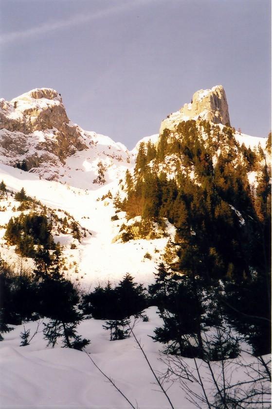 Couloir de Chevenne au Mont Chauffé