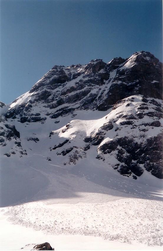 Mont de Grange - base du couloir de chemine