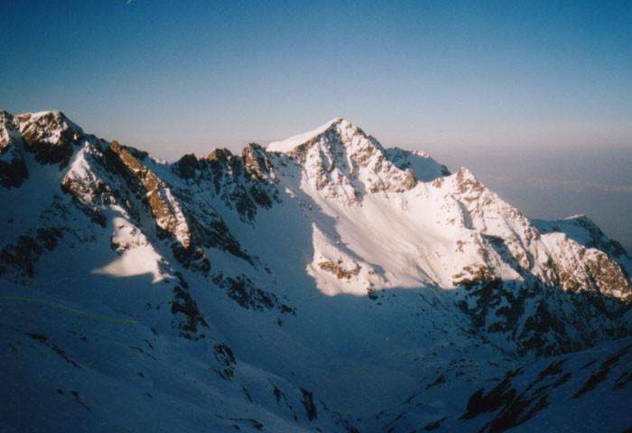 La face Nord de la Grande Lance de Domène, vue du col de Roche Noire