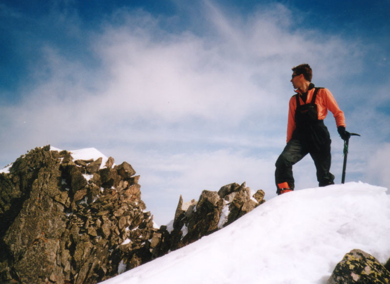 Fab sur le sommet secondaire du Pic du Rognolet en Lauzière