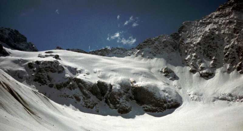 Le glacier de la Muande, vu depuis le glacier du Fond