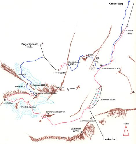 Schizzo traversata del Grossstrubel