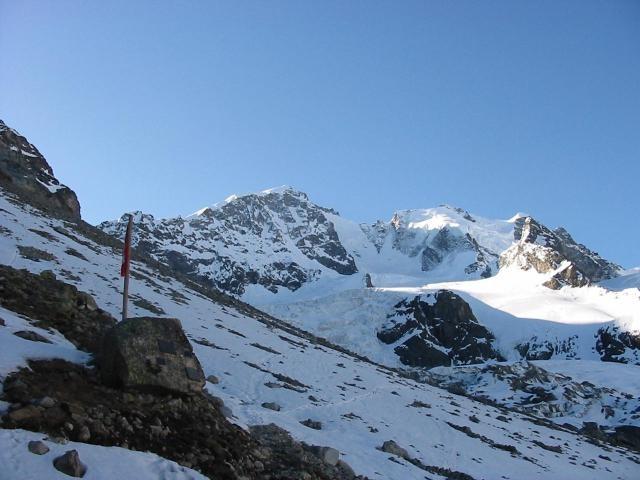 Bernina e Scersen dalla capanna Tschierva