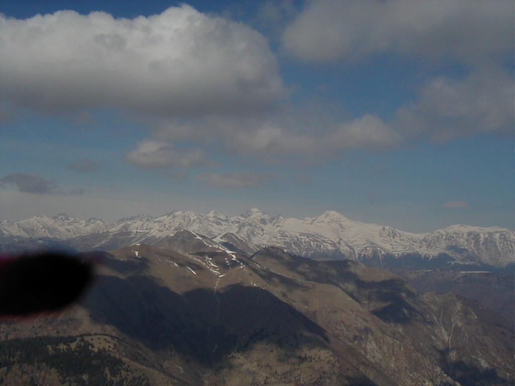 Sommets de la Vallée des Merveilles, prise de vue en vol