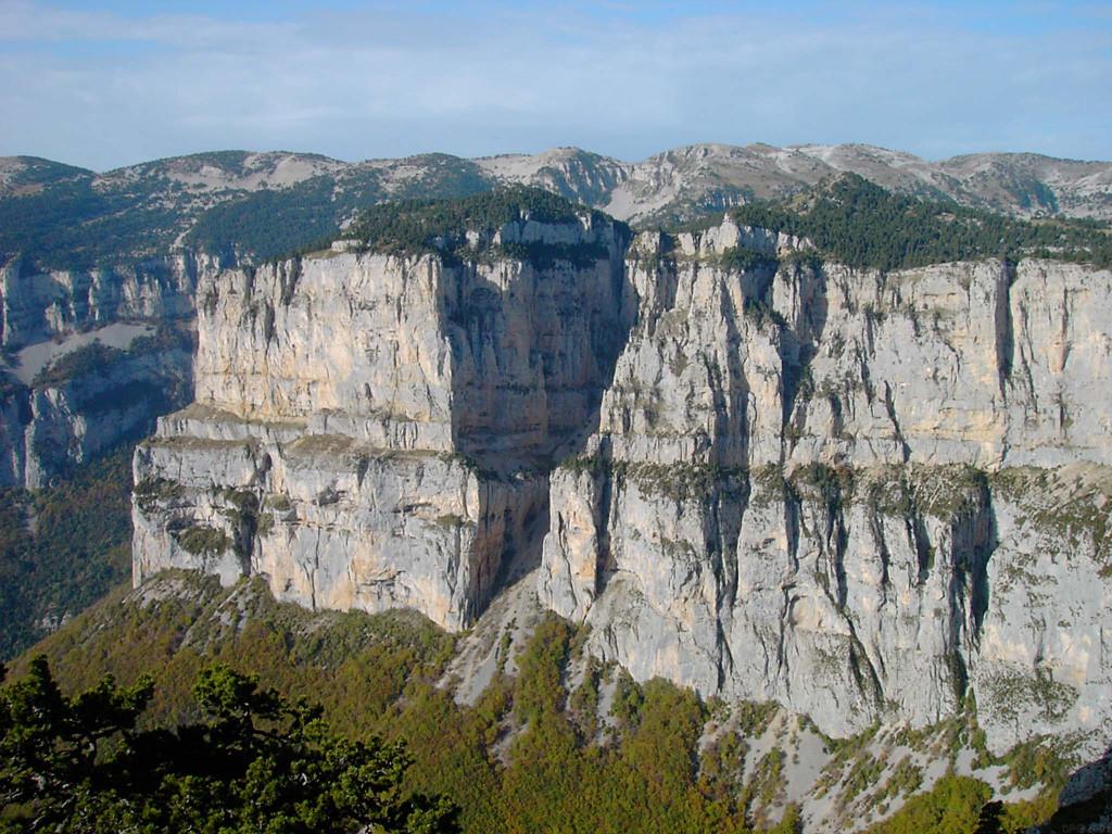 Le cirque d'Archiane depuis les Hauts-Plateau du Vercors