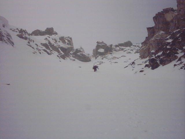 Monte Freid - in salita nel canale