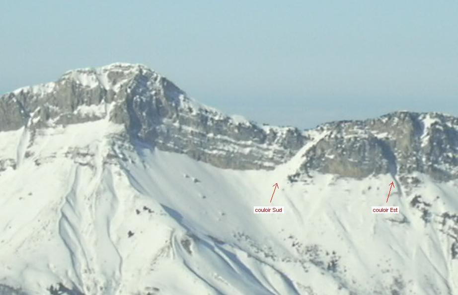 Mont Colombier depuis la Pointe des Arlicots