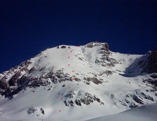 Rocca Blanca m.3193 - Versante SW