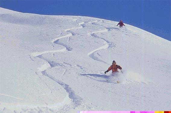 Cima dei Lupi - Knee deep snow