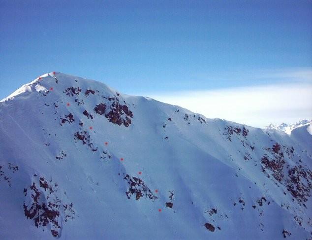 Monte Steliere  m 2612 - Canalino N/E