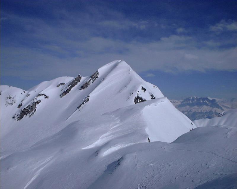 Tête de Paccaly en déchaussant les skis