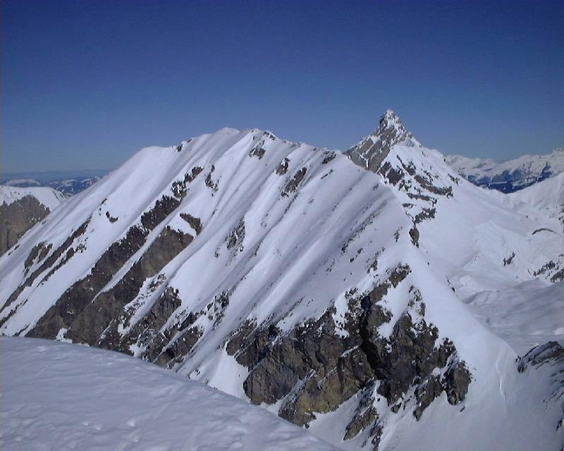 Mont Fleuri et Pointe Percée depuis sommet