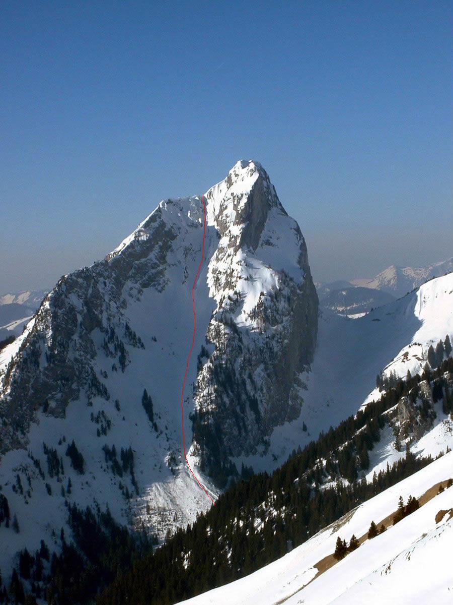 Mont Chauffé : couloir de Chevenne