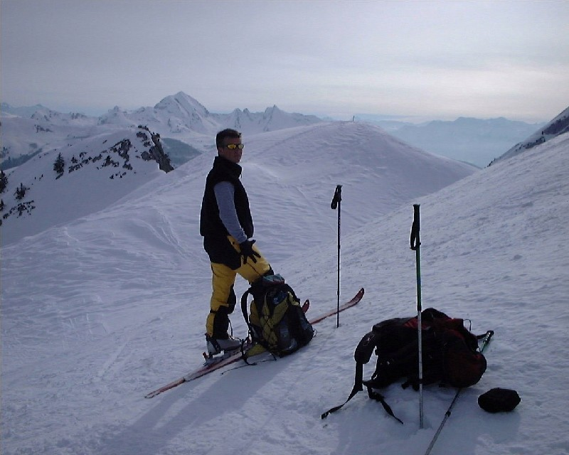 Pause devant le Mont Charvin