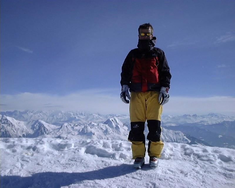 Vincent summiter de La Tournette