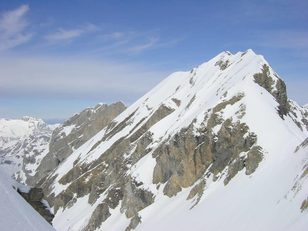 La Mamule et le Mt Fleuri depuis le passage de la Grde Forclaz