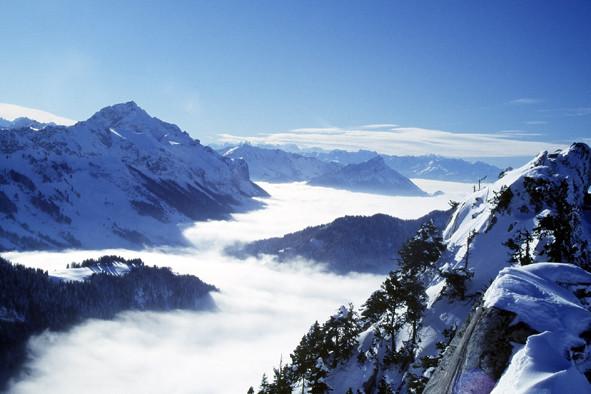 Vue du sommet du Roc des Boeufs