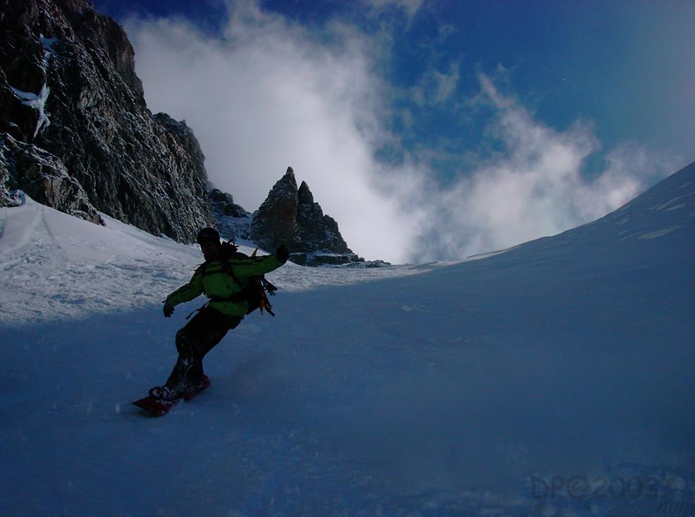 Glacier Long : descente en surf (partie haute)