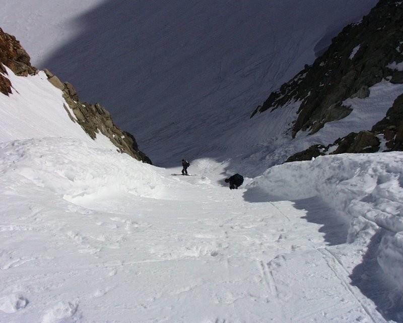 Col du Chardonnet- Couloir de Descente vers Glacier de Saleina