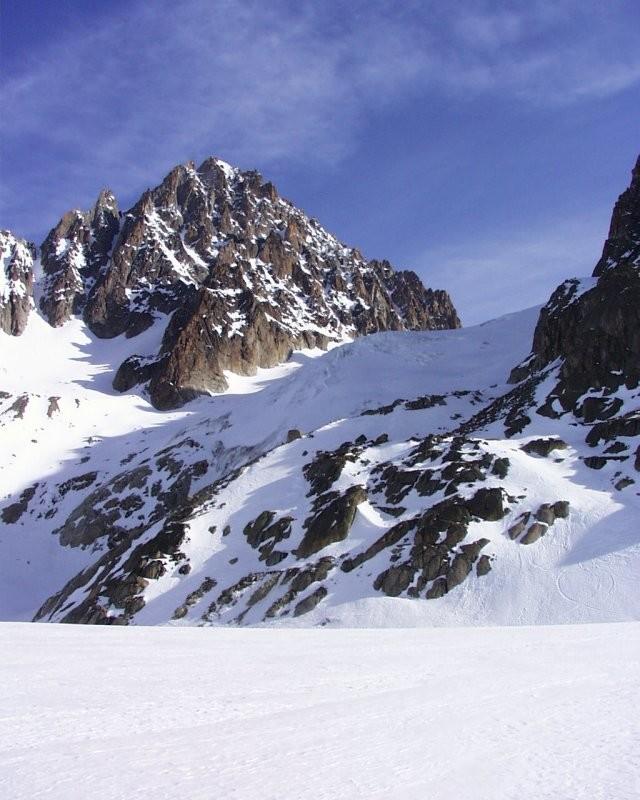 Montée vers Col du Chardonnet, depuis le Glacier d'Argentière