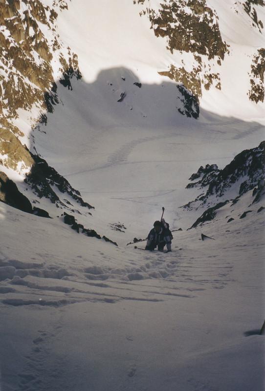 Raoul dans le couloir du Col des Chamoix