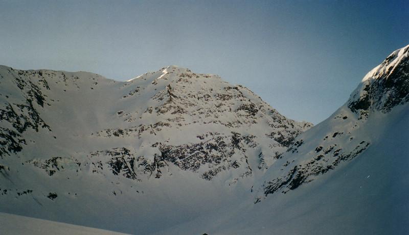 Fouchon face nord - Montée au Grand Golliat