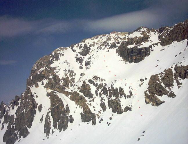 Rocca Bianca m.3021 - Versante Ovest
