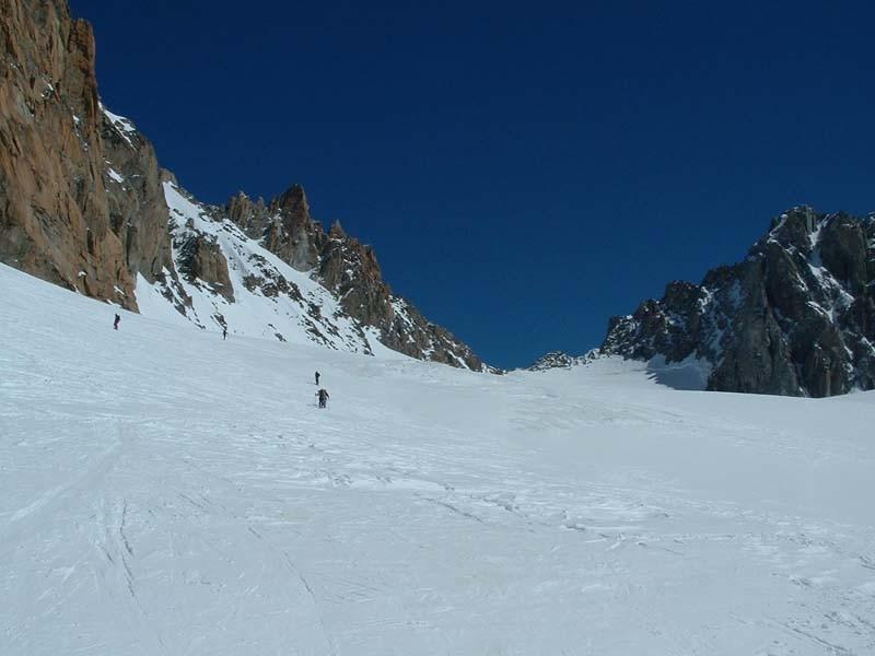 En remontant le glacier des Améthystes