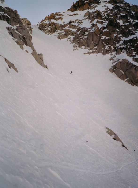 Raoul au sommet de la branche principale du couloir nord de la pointe d'Orny