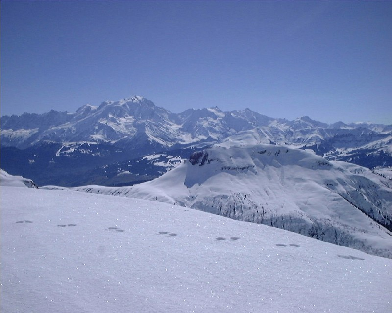 Croisse Baulet et Mt Blanc