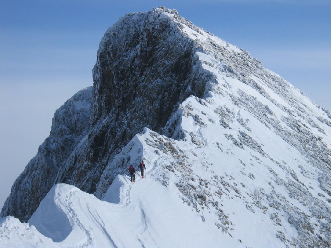 Fred et Gérald sur l'arête menant à la Bernina