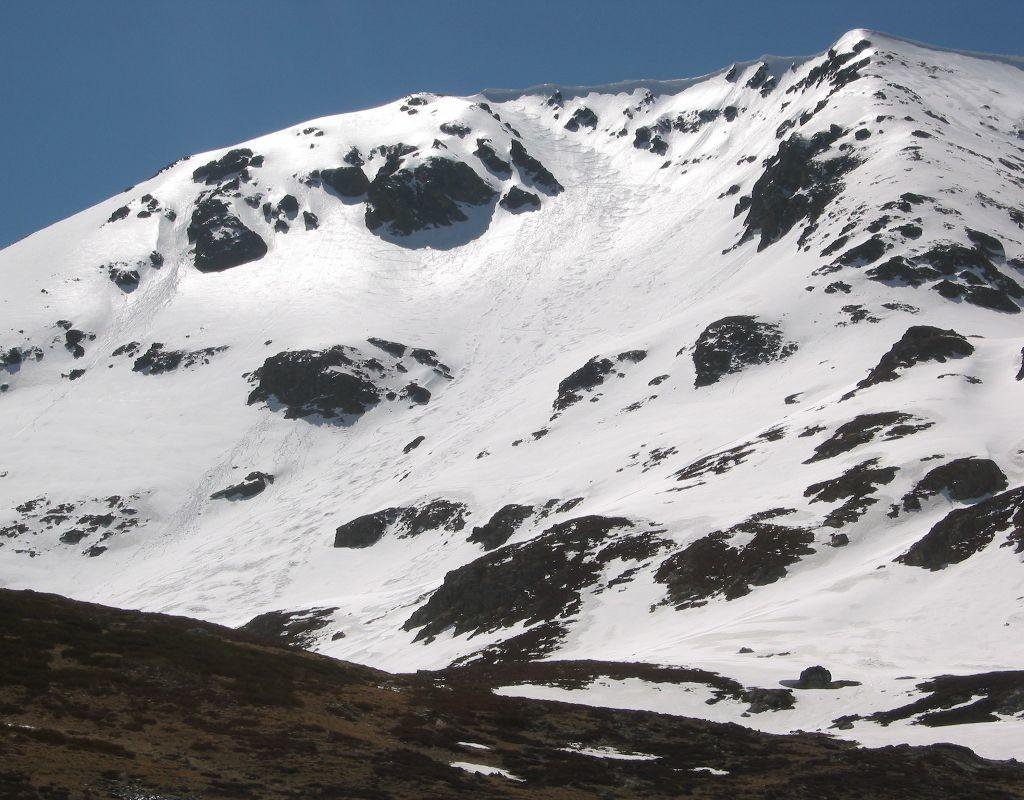 Pico Lomas, cara norte