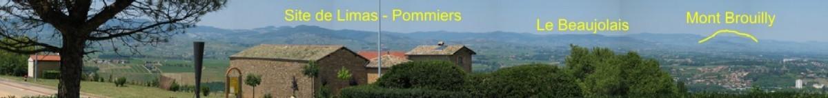 Limas - Vue du haut de la colinne - Resto derrière