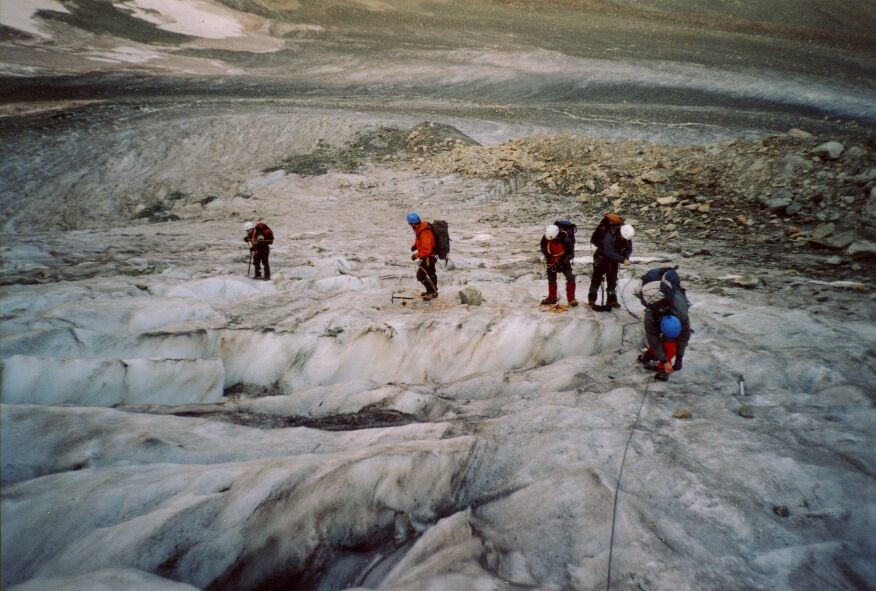 Pigne d'Arolla : glacier de Tseina Refien