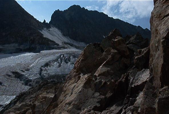 La Muzelle depuis l'éperon avant le glacier