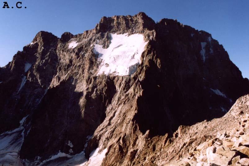 Col de la Temple - Vue sur la face nord de l'Ailefroide