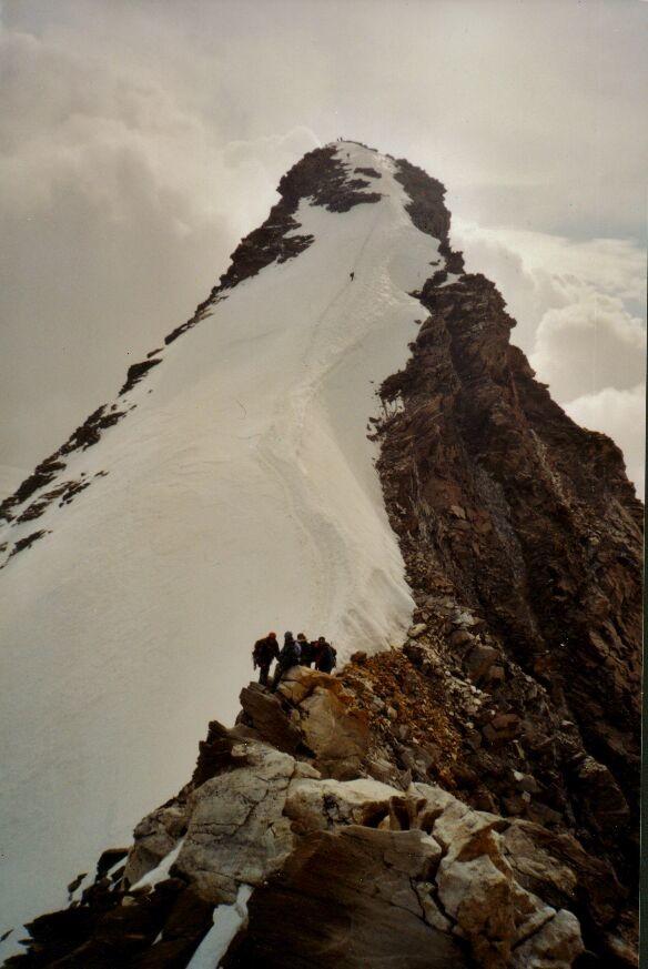 Pointe Dufour : arête de neige