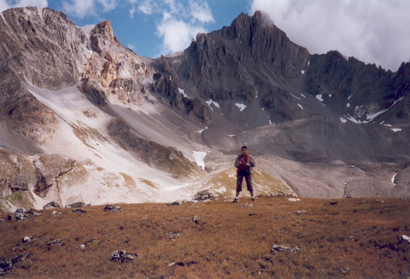 Bertrand au sommet du Grand Châtelard (2817m)